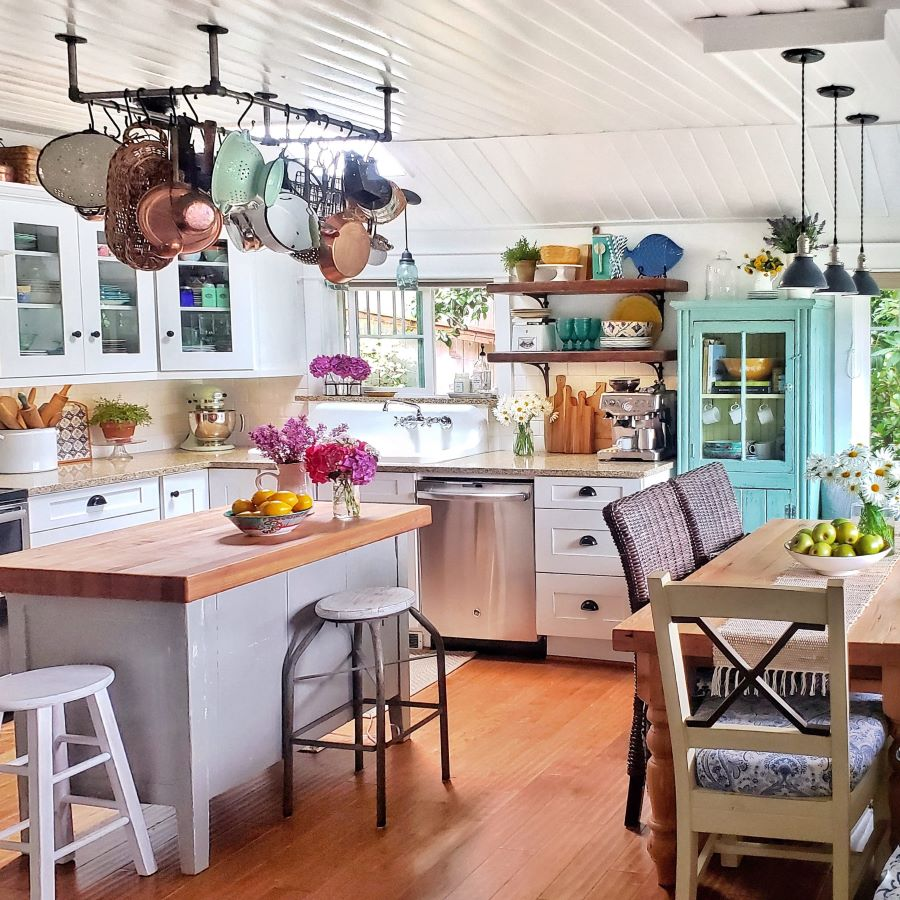 simple summer kitchen tour