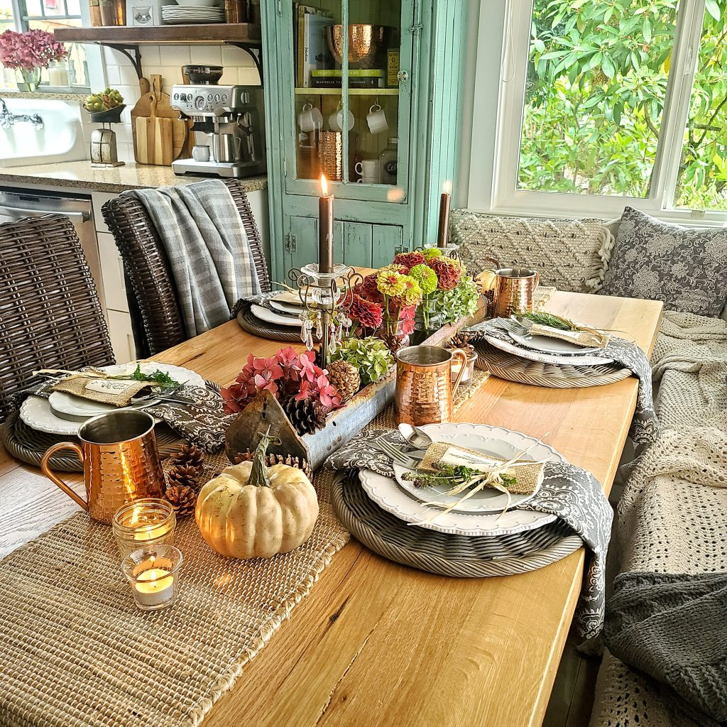 Thanksgiving Tablescape With  Natural Elements