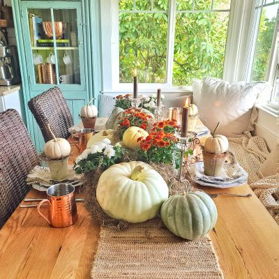 Warm up Your Fall Table with Pumpkins and Mums