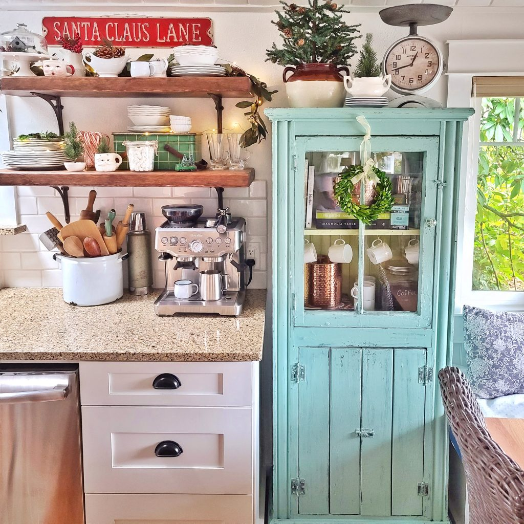 Christmas home decor in kitchen